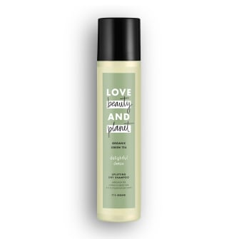 Front of dry shampoo pack Love Beauty Planet Organic Green Tea Dry Shampoo Delightful Detox 245ml