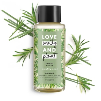 Front of shampoo pack Love Beauty Planet Rosemary & Vetiver Shampoo Delightful Detox 400ml