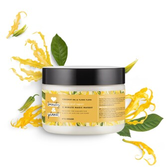 Forsiden av hårmasken Love Beauty Planet Coconut Oil & Ylang Ylang Chair Masque Hope & Repair 300ml