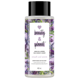 A front of pack image of Love Beauty & Planet Argan Oil & Lavender Conditioner