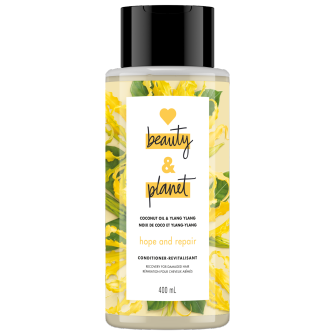 A front of pack image of Love Beauty & Planet Coconut Oil & Ylang Ylang Conditioner