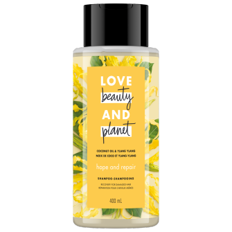 Image de l'emballage du Coconut Oil & Ylang Ylang Shampoo de Love Beauty & Planet