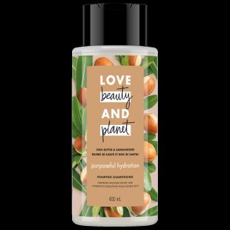 Image de l'emballage de Shea Butter & Sandalwood Shampoo de Love Beauty & Planet