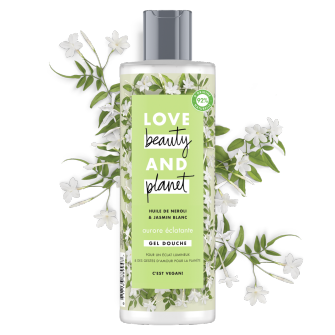gel douche aurore éclatante Love Beauty and Planet 400ml
