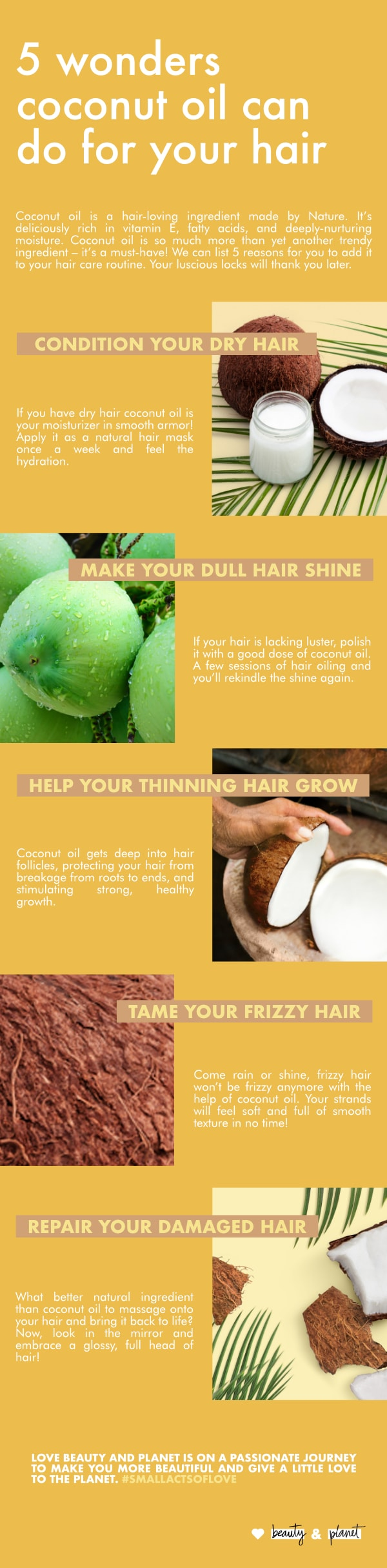 How To Use Coconut Oil For Hair Love Beauty And Planet