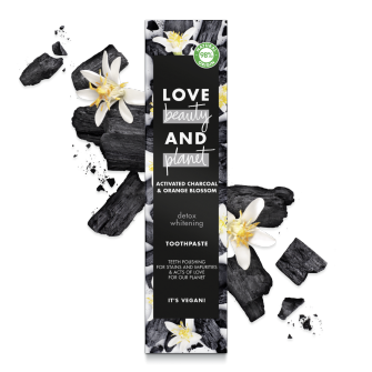 Back of pack Love Beauty and Planet Toothpaste Detox whitening 75ml