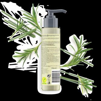 Back of face cleansing gel pack Love Beauty Planet Tea Tree Oil & Vetiver Face Cleansing Gel Invigorating Detox 125ml