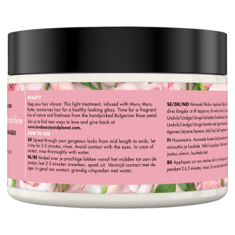 Back of hair masque pack Love Beauty Planet Muru Muru Butter & Rose Hair Masque Blooming Colour 300ml