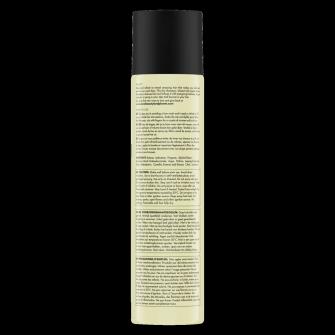 Zadná strana obalu suchého šampónu Love Beauty and Planet Delightful Detox s organickým zeleným čajom 245ml