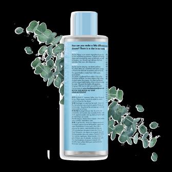 Baksida av Love Beauty & Planet Havsalger och Eukalyptus schampo Wave of Hydration 400 ml