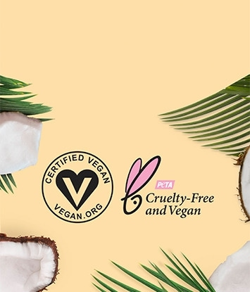Certified Vegan Logo and PETA-Certified Cruelty-Free Logo