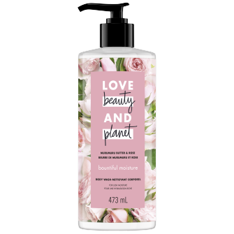 A front of pack image of Love Beauty & Planet Murumuru Butter & Rose Body Wash