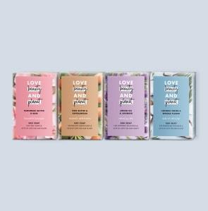 four soap bars