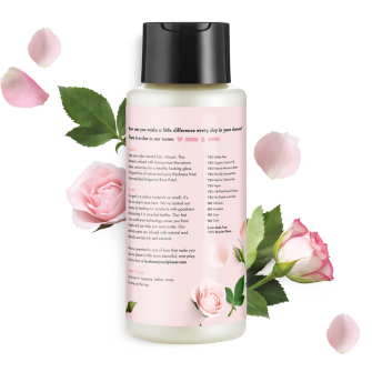 Back of shampoo pack Love Beauty Planet Allure Best in Beauty 2018 Murumuru Butter & Rose Oil Shampoo Blooming Color 13.5oz