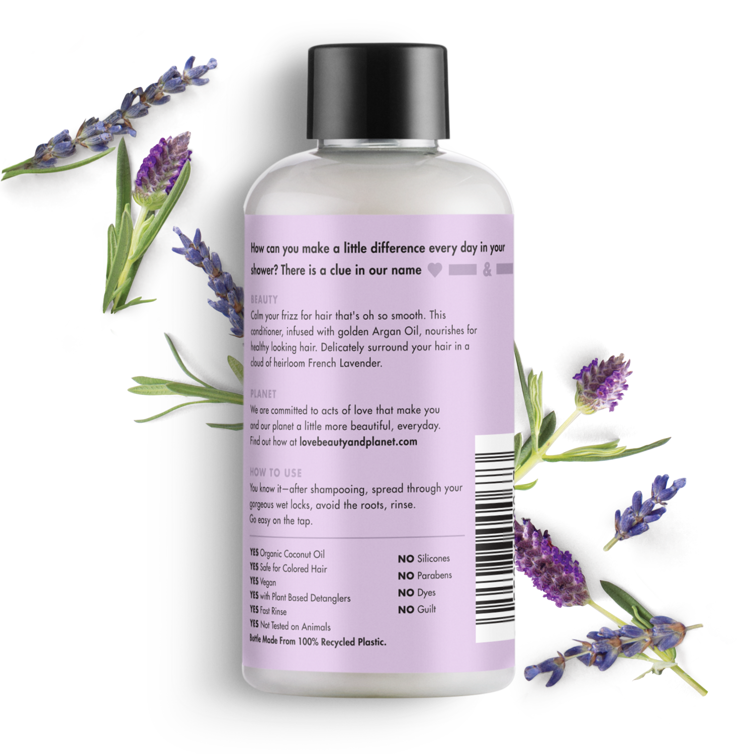 Love Beauty And Planet Argan Oil Lavender Shampoo Smooth And