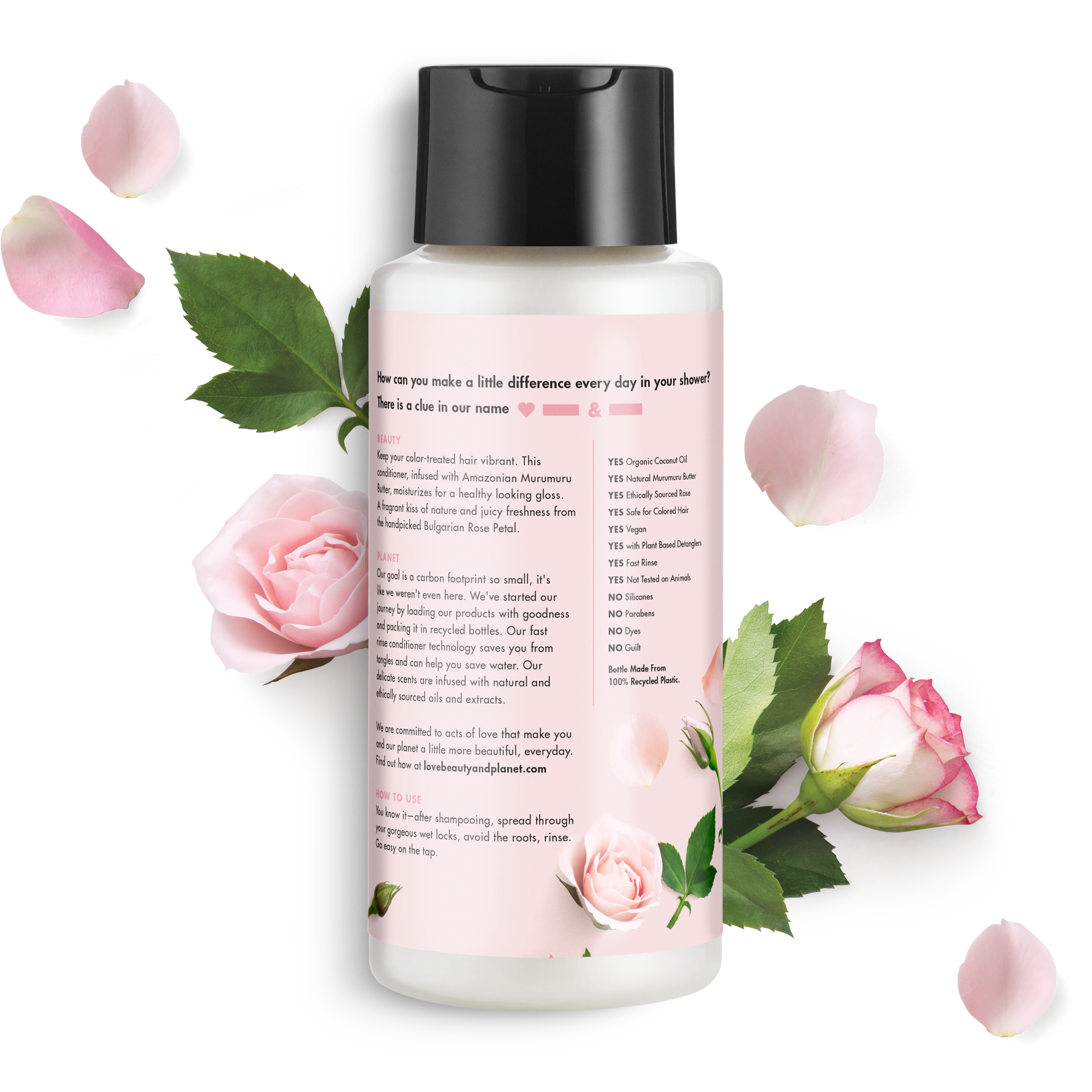Love Beauty And Planet Murumuru Butter Rose Conditioner Blooming Color