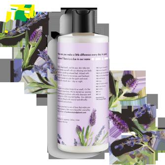 Back of body wash pack Love Beauty Planet Argan Oil & Lavender Body Wash Relaxing Rain 16oz